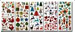 Glitter stickers Kerst
